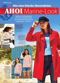 Titelbild der Ausgabe 11/2020 von MODE Trends: Wie eine frische Meeresbrise AHOI Marine-Look. Zeitschriften als Abo oder epaper bei United Kiosk online kaufen.