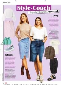 Titelbild der Ausgabe 13/2020 von News: Style-Coach: 1 Trend - 2 Größen: Jeansrock. Zeitschriften als Abo oder epaper bei United Kiosk online kaufen.