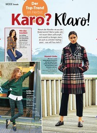 Titelbild der Ausgabe 42/2020 von Trends: Der Top-Trend im Herbst: Karo? Klaro!. Zeitschriften als Abo oder epaper bei United Kiosk online kaufen.