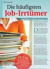 Titelbild der Ausgabe 42/2020 von Topthema: Die häufigsten Job-Irrtümer. Zeitschriften als Abo oder epaper bei United Kiosk online kaufen.