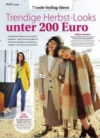 Titelbild der Ausgabe 45/2020 von Trends: 7 coole Styling-Ideen: Trendige Herbst-Looks unter 200 Euro. Zeitschriften als Abo oder epaper bei United Kiosk online kaufen.