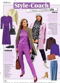 Titelbild der Ausgabe 47/2020 von News: Style-Coach: 1 Trend - 2 Größen: Lila. Zeitschriften als Abo oder epaper bei United Kiosk online kaufen.