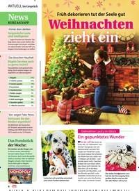 Titelbild der Ausgabe 48/2020 von Früh dekorieren tut der Seele gut: Weihnachten zieht ein. Zeitschriften als Abo oder epaper bei United Kiosk online kaufen.