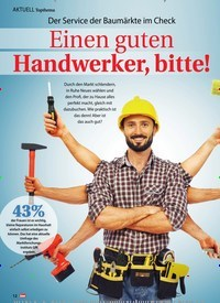 Titelbild der Ausgabe 2/2021 von Topthema: Der Service der Baumärkte im Check: Einen guten Handwerker, bitte!. Zeitschriften als Abo oder epaper bei United Kiosk online kaufen.