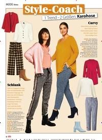 Titelbild der Ausgabe 5/2021 von Style-Coach: 1 Trend – 2 Größen: Karohose. Zeitschriften als Abo oder epaper bei United Kiosk online kaufen.