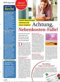 Titelbild der Ausgabe 5/2021 von NEWS: Tipps & Infos: Aktuell informiert: Achtung, Nebenkosten-Falle!. Zeitschriften als Abo oder epaper bei United Kiosk online kaufen.