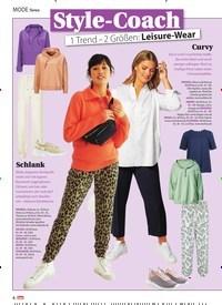 Titelbild der Ausgabe 7/2021 von MODE News: Style-Coach: 1 Trend - 2 Größen: Leisure -Wear. Zeitschriften als Abo oder epaper bei United Kiosk online kaufen.