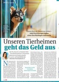 Titelbild der Ausgabe 8/2021 von Topthema: Unseren Tierheimen geht das Geld aus. Zeitschriften als Abo oder epaper bei United Kiosk online kaufen.