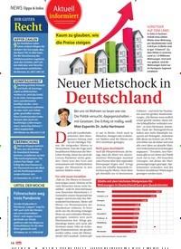 Titelbild der Ausgabe 8/2021 von NEWS Tipps & Infos: Neuer Mietschock in Deutschland. Zeitschriften als Abo oder epaper bei United Kiosk online kaufen.