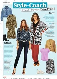 Titelbild der Ausgabe 10/2021 von MODE News: Style-Coach 1 Trend - 2 Größen: Zebra-Prints. Zeitschriften als Abo oder epaper bei United Kiosk online kaufen.