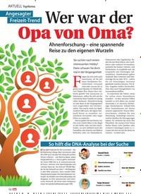 Titelbild der Ausgabe 10/2021 von Topthema Wer war der Opa von Oma?. Zeitschriften als Abo oder epaper bei United Kiosk online kaufen.