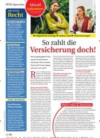 Titelbild der Ausgabe 10/2021 von NEWS Tipps & Infos: So zahlt die Versicherung doch!. Zeitschriften als Abo oder epaper bei United Kiosk online kaufen.