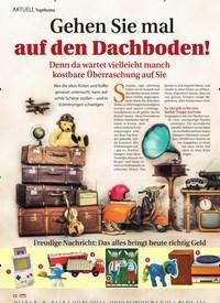 Titelbild der Ausgabe 11/2021 von Topthema: Gehen Sie mal auf den Dachboden! Denn da wartet vielleicht manch kostbare Überraschung auf Sie. Zeitschriften als Abo oder epaper bei United Kiosk online kaufen.