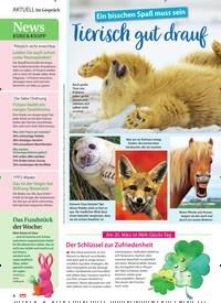 Titelbild der Ausgabe 12/2021 von Ein bisschen Spaß muss sein: Tierisch gut drauf. Zeitschriften als Abo oder epaper bei United Kiosk online kaufen.