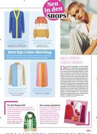Titelbild der Ausgabe 13/2021 von Neu in den SHOPS: Jetzt hip: Color-Blocking. Zeitschriften als Abo oder epaper bei United Kiosk online kaufen.