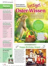 Titelbild der Ausgabe 14/2021 von Im Gespräch: Damit glänzen Sie beim Brunch: Lustiges Oster-Wissen. Zeitschriften als Abo oder epaper bei United Kiosk online kaufen.