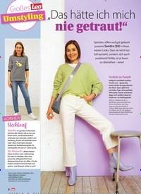 """Titelbild der Ausgabe 14/2021 von Großes Lea Umstyling: """"Das hätte ich mich nie getraut!"""". Zeitschriften als Abo oder epaper bei United Kiosk online kaufen."""