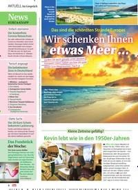 Titelbild der Ausgabe 15/2021 von Wir schenken Ihnen etwas Meer …. Zeitschriften als Abo oder epaper bei United Kiosk online kaufen.
