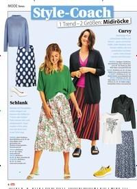 Titelbild der Ausgabe 15/2021 von Style-Coach 1 Trend - 2 Größen: Midiröcke. Zeitschriften als Abo oder epaper bei United Kiosk online kaufen.