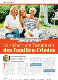Titelbild der Ausgabe 15/2021 von So sichert ein Testament den Familien-Frieden. Zeitschriften als Abo oder epaper bei United Kiosk online kaufen.