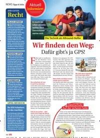 Titelbild der Ausgabe 15/2021 von Die Technik als Allround-Helfer:Wir finden den Weg: Dafür gibt's ja GPS!. Zeitschriften als Abo oder epaper bei United Kiosk online kaufen.