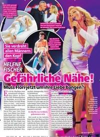 Titelbild der Ausgabe 52/2018 von HELENE FISCHER: Gefährliche Nähe!: Muss Flori jetzt um ihre Liebe bangen?. Zeitschriften als Abo oder epaper bei United Kiosk online kaufen.