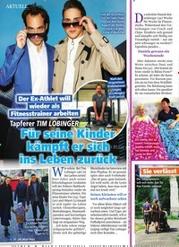 Titelbild der Ausgabe 8/2019 von Tapferer TIM LOBINGER: Für seine Kinder kämpft er sich ins Leben zurück. Zeitschriften als Abo oder epaper bei United Kiosk online kaufen.