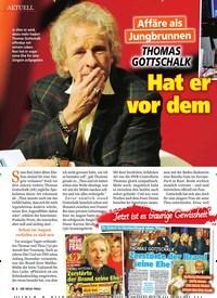 Titelbild der Ausgabe 14/2019 von Affäre als Jungbrunnen: Thomas GoTTschalk: Hat er Angst vor dem Alter?. Zeitschriften als Abo oder epaper bei United Kiosk online kaufen.