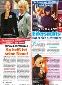 Titelbild der Ausgabe 16/2019 von Die Trennung von Oana setzt ihm zu: Erich Klann : Eifersuchts- Drama! Hat er sich nicht mehr unter Kontrolle?. Zeitschriften als Abo oder epaper bei United Kiosk online kaufen.