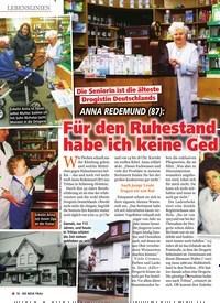Titelbild der Ausgabe 16/2019 von Lebenslinien: Die Seniorin ist die älteste Drogistin Deutschlands: Anna Redemund (87): Für den Ruhestand uld habe ich keine Ged. Zeitschriften als Abo oder epaper bei United Kiosk online kaufen.