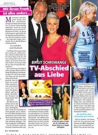 Titelbild der Ausgabe 49/2019 von BIRGIT SCHROWANGE: TV-Abschied aus Liebe. Zeitschriften als Abo oder epaper bei United Kiosk online kaufen.