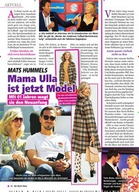 Titelbild der Ausgabe 50/2019 von MATS HUMMELS: Mama Ulla ist jetzt Model. Zeitschriften als Abo oder epaper bei United Kiosk online kaufen.