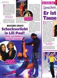 Titelbild der Ausgabe 12/2020 von MASSIMO SINATO: Schockverliebt in Lili Paul!: Muss sich Rebecca Sorgen machen?. Zeitschriften als Abo oder epaper bei United Kiosk online kaufen.