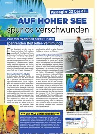 Titelbild der Ausgabe 49/2018 von SYMBOLFOTO: Passa gier 23 bei RTL: AUF HOHER SEE spurlos verschwunden. Zeitschriften als Abo oder epaper bei United Kiosk online kaufen.