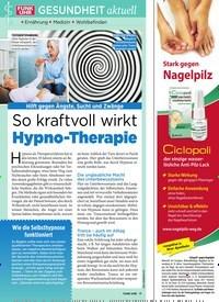 Titelbild der Ausgabe 50/2018 von GESUNDHEIT aktuell: So kraftvoll wirkt Hypno-Therapie. Zeitschriften als Abo oder epaper bei United Kiosk online kaufen.