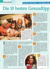 Titelbild der Ausgabe 50/2018 von Gesundheit: Die 10 besten Gesundtipps für die Adventszeit. Zeitschriften als Abo oder epaper bei United Kiosk online kaufen.