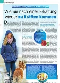 Titelbild der Ausgabe 50/2018 von Gesundheit: Wie Sie nach einer Erkältung wieder zu Kräften kommen. Zeitschriften als Abo oder epaper bei United Kiosk online kaufen.