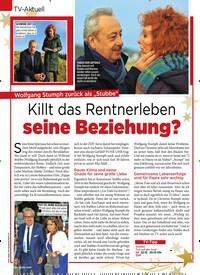 """Titelbild der Ausgabe 51/2018 von TV-Aktuell: Wolfgang Stumph zurück als """"Stubbe"""" Killt das Rentnerleben seine Beziehung?. Zeitschriften als Abo oder epaper bei United Kiosk online kaufen."""