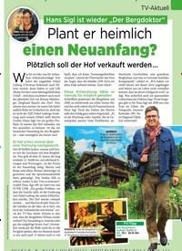 """Titelbild der Ausgabe 1/2019 von TV-Aktuell: Hans Sigl ist wieder """"Der Bergdoktor"""":Plant er heimlich einen Neuanfang?. Zeitschriften als Abo oder epaper bei United Kiosk online kaufen."""