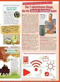 Titelbild der Ausgabe 3/2019 von Millionen Deutsche setzen schon auf Alexa & Co: Die 7 nützlichsten Dinge, die Ihr Sprach-Assistent kann. Zeitschriften als Abo oder epaper bei United Kiosk online kaufen.