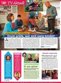 """Titelbild der Ausgabe 4/2019 von TV-Aktuell: """"Scheidung für Anfänger"""" Drum prüfe, wer sich ewig bindet!. Zeitschriften als Abo oder epaper bei United Kiosk online kaufen."""