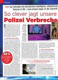 Titelbild der Ausgabe 4/2019 von Wissen: So clever jagt unsere: Polizei Verbrecher. Zeitschriften als Abo oder epaper bei United Kiosk online kaufen.