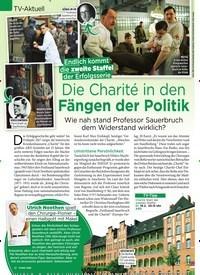 Titelbild der Ausgabe 7/2019 von TV-Aktuell: Endlich kommt die zweite Staffel der Erfolgsserie: Die Charité in den Fängen der Politik. Zeitschriften als Abo oder epaper bei United Kiosk online kaufen.