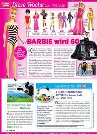 Titelbild der Ausgabe 10/2019 von Diese Woche zum Mitreden: Barbie wird 60. Zeitschriften als Abo oder epaper bei United Kiosk online kaufen.