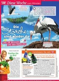 Titelbild der Ausgabe 11/2019 von Diese Woche zum Mitreden: Die Störche sind wieder da. Zeitschriften als Abo oder epaper bei United Kiosk online kaufen.