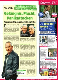 Titelbild der Ausgabe 11/2019 von Tim Wilde: Gefängnis, Flucht, Panikattacken. Zeitschriften als Abo oder epaper bei United Kiosk online kaufen.