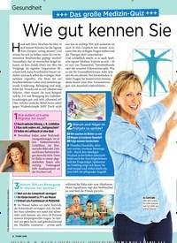 Titelbild der Ausgabe 13/2019 von Gesundheit +++ Das große Medizin-Quiz +++ Wie gut kennen Sie Ihren Körper?. Zeitschriften als Abo oder epaper bei United Kiosk online kaufen.