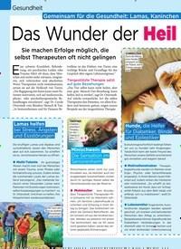 Titelbild der Ausgabe 14/2019 von Gemeinsam für die Gesundheit: Lamas, Kaninchen und Hunde als Krankenpfleger Das Wunder der Heil kraft der Tiere. Zeitschriften als Abo oder epaper bei United Kiosk online kaufen.