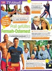 Titelbild der Ausgabe 15/2019 von TV-Aktuell: Prall gefülltes Fernseh-Osternest. Zeitschriften als Abo oder epaper bei United Kiosk online kaufen.