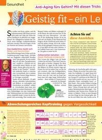 Titelbild der Ausgabe 16/2019 von Gesundheit : Anti-Aging fürs Gehirn? Mit diesen Tricks funktionert es : Geistig fit – ein Leben lang. Zeitschriften als Abo oder epaper bei United Kiosk online kaufen.